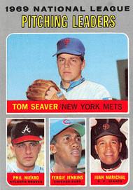 1970 Topps #69 1969 NL Pitching Leaders NRMT Seaver, Niekro, Jenkins, Marichal. (70T69NRMT)