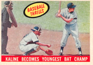 1959 Topps #463 Baseball Thrills, Kaline Becomes Youngest Bat Champ, EX