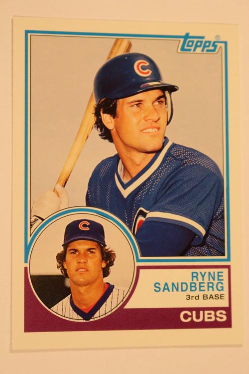 Baseball Cards, Ryne Sandberg, Sandberg, 2006 Topps, 1983 Topps, Cubs, Rookie, Rookie of the Week