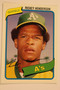 Baseball Cards, Rickey Henderson, Henderson, 2006 Topps, 1980 Topps, A's, Athletics, Rookie, Rookie of the Week