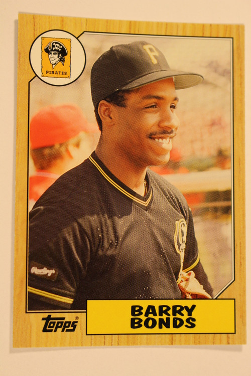 Baseball Cards, Barry Bonds, Bonds, 2006 Topps, 1987 Topps, PIrates, Rookie, Rookie of the Week