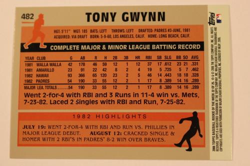 Baseball Cards, Tony Gwynn, Gwynn, 2006 Topps, 1983 Topps, Padres, Rookie, Rookie of the Week
