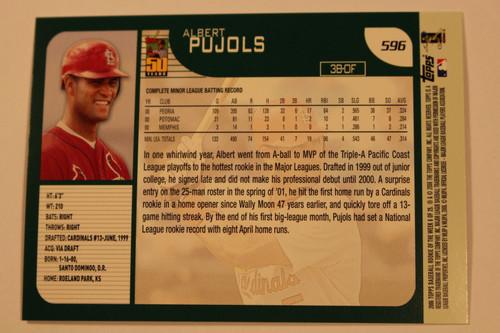Baseball Cards, Albert Pujols, Pujols, 2006 Topps, 2001 Topps, Cardinals, Rookie, Rookie of the Week
