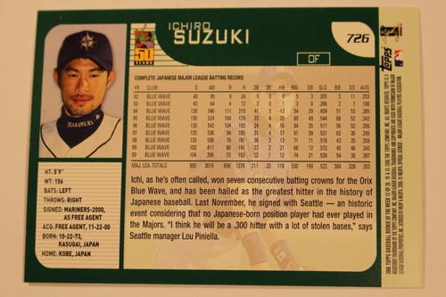 Baseball Cards, Ichiro Suzuki, Ichiro, 2006 Topps, 2001 Topps, Mariners, Rookie, Rookie of the Week