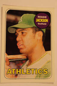 Baseball Cards, Reggie Jackson, Jackson, 2006 Topps, 1969 Topps, Athletics, A's, Rookie, Rookie of the Week