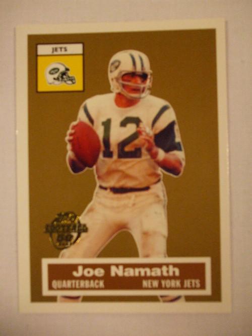 Football Cards, Joe Namath, Namath, 2005 Topps, Jets, Turn Back the Clock