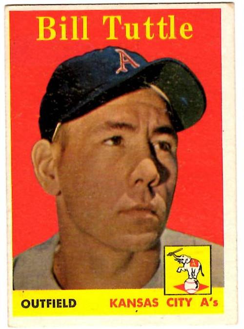1958 Topps, Baseball Cards, Topps,  Tuttle, Bill Tuttle, Giants, Yellow Name