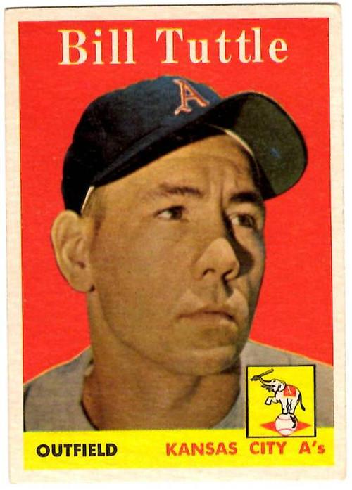 1958 Topps, Baseball Cards, Topps,  Tuttle, Bill Tuttle, Giants