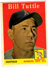 1958 Topps, Baseball Cards, Topps,  Tuttle, Bill Tuttle, Giants