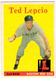 1958 Topps, Baseball Cards, Topps,  Lepcio, Ted Lepcio, Red Sox
