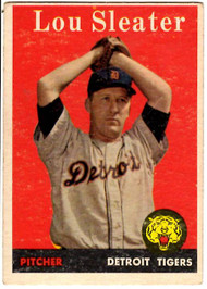 1958 Topps, Baseball Cards, Topps,  Sleater, Lou Sleater, Tigers