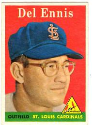 1958 Topps, Baseball Cards, Topps,  Del Ennis, Ennis, Cardinals