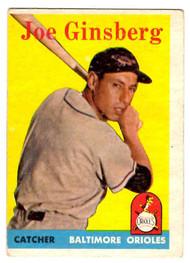 1958 Topps, Baseball Cards, Topps,  Joe Ginsberg, Ginsberg, Orioles