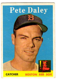 1958 Topps, Baseball Cards, Topps,  Pete Daley, Daley, Red Sox