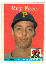 1958 Topps, Baseball Cards, Topps,  Roy Face, Face, Pirates