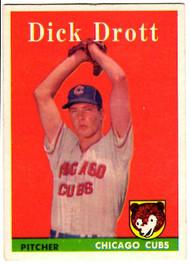 1958 Topps, Baseball Cards, Topps,  Dick Drott, Drott, Cubs