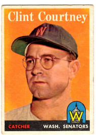 1958 Topps, Baseball Cards, Topps,  Clint Courtney, Senators