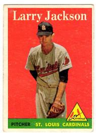 1958 Topps, Baseball Cards, Topps,  Larry Jackson, Cardinals