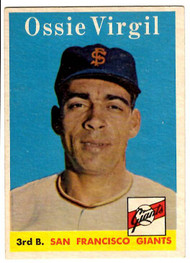1958 Topps, Baseball Cards, Topps,  Ozzie Virgil, Giants