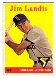 1958 Topps, Baseball Cards, Topps, Jim Landis, White Sox