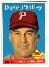 1958 Topps, Baseball Cards, Topps, Dave Philley, Phillies