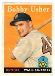 1958 Topps, Baseball Cards, Topps, Bobby Usher, Senators