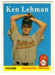 1958 Topps, Baseball Cards, Topps, Ken Lehman, Orioles