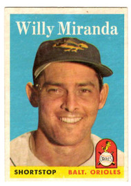 1958 Topps, Baseball Cards, Topps, Willie Miranda, Orioles