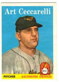1958 Topps, Baseball Cards, Topps, Art Ceccarelli, Orioles
