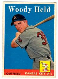 1958 Topps, Baseball Cards, Topps, Woody Held, A's