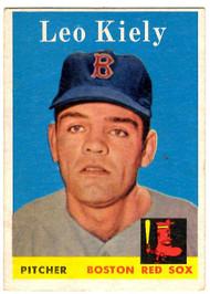 1958 Topps, Baseball Cards, Topps, Leo Kiely, Red Sox