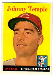 1958 Topps, Baseball Cards, Topps, Johnny Temple, Reds