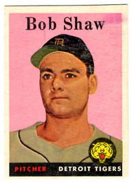 1958 Topps, Baseball Cards, Topps, Bob Shaw, Tigers