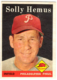 1958 Topps, Baseball Cards, Topps, Solly Hemus, Phillies