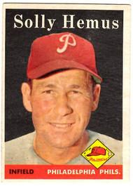 1958 Topps, Baseball Cards, Topps, Solly Hemus, Phillies