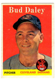 1958 Topps, Baseball Cards, Topps, Bud Daley, Indians