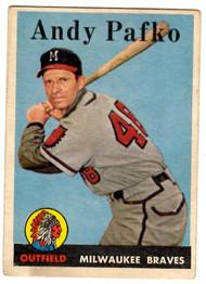 1958 Topps, Baseball Cards, Topps, Anky Pafko, Braves