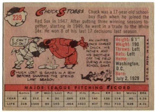 1958 Topps, Baseball Cards, Topps, Chuck Stobbs, Senators