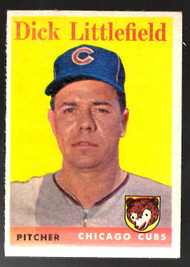 1958 Topps, Baseball Cards, Topps, Dick Littlefield, Cubs