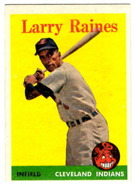 1958 Topps, Baseball Cards, Topps, Larry Raines, Indians