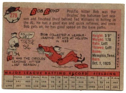 1958 Topps, Baseball Cards, Topps, Bob Boyd, Orioles