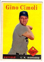 1958 Topps, Baseball Cards, Topps, Gino Cimoli, Dodgers