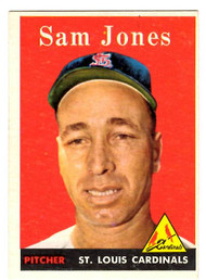 1958 Topps, Baseball Cards, Topps, Sam Jones, Cardinals