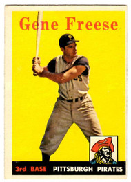 1958 Topps, Baseball Cards, Topps, Gene Freese, Pirates