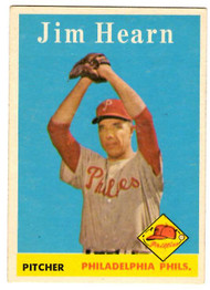 1958 Topps, Baseball Cards, Topps, Jim Hearn, Phillies