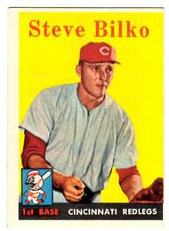 1958 Topps, Baseball Cards, Topps, Steve Bilko, Redlegs, Reds