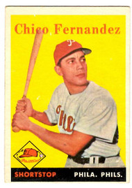 1958 Topps, Baseball Cards, Topps, Chico Fernandez, Phillies