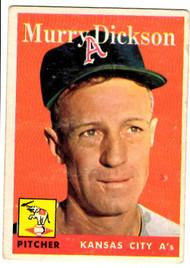 1958 Topps, Baseball Cards, Topps, Murry Dickson, A's