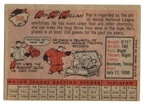 1958 Topps, Baseball Cards, Topps, Roy McMillan, Redlegs, Reds