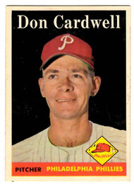 1958 Topps, Baseball Cards, Topps, Don Cardwell, Phillies